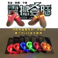 100pcs/lot 6th LED flashing fashion shoelace 6 colors can be choose free shipping