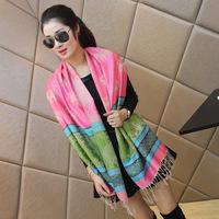 100% cotton scarf muffler scarf long design tassel cape thermal scarf female winter shawl