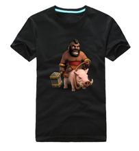 Оригинальный дизайн 100% хлопок столкновение кланы сос свиней всадник печать свободного покроя стиль футболка футболка мода логотип(China (Mainland))