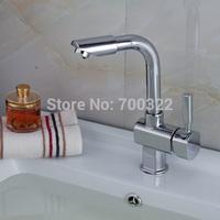 Modern Chrome Swivel Spout Wash Basin Faucet 0901B