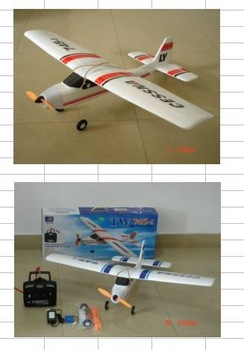 3-CH  Radio Control model plane w. brush