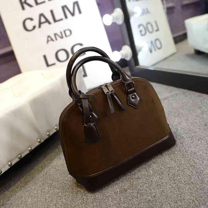 2015 new woman bag nubuck suede bag retro shell bag professional handbag Messenger bag(China (Mainland))