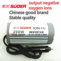 12V DC to AC 220V 200W Car Auto USB SUOER Power Inverter with Ion-Oxygen Generator Converter Adapter