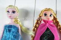 In Stock! 2PCS/Lot Frozen Dolls  Princess 28CM Frozen Toys Elsa and Anna Boneca Frozen Doll for Girls Chirstmas Gift