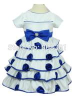 Baby Kids 2014 new sweet bow flower girl dress princess dress children dress baby girl,Free shipping