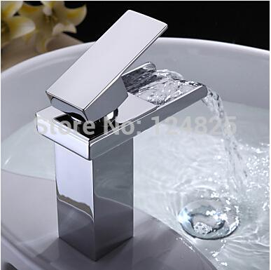 high quality brass bathroom waterfall basin faucet mixer tap torneira para banheiro kpah vasos vintage free shipping(China (Mainland))