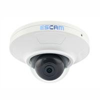 ESCAM HD2200 H.264 / MJPEG 1.3 Megapixel TI Network Mini Dome Camera HD2200 with POE/ip66 support Smart Phone