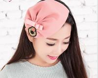 wool cloth label bow hair band headbands for women,Winter knitting wool hat hair band beautiful kids headbands for hair