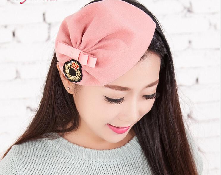 wool cloth label bow hair band headbands for women,Winter knitting wool hat hair band beautiful kids headbands for hair(China (Mainland))