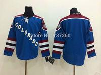 Cheap Free Shipping men's Hockey Jersey Colorado Avalanche blank Hockey Jersey Embroidery Logos Jersey