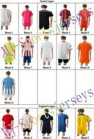 Free shipping-2014/15 Season Club Blank jersey&short,Soccer team uniforms