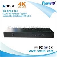 100M  1X8  HDBaseT splitter with 3D&4k2k  support IR &RS 232