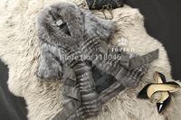 New European fashion women genuine fox fur long coat luxury womens overcoat plus size printed female jackets furs outwear