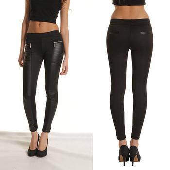 Новые сексуальные женщины искусственной кожи сращивание стретч узкие брюки тонкий ...