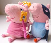 Free Ship New Brinquedos 2014 Winter Kawaii Peppa Pig Plush Toys Christmas Gift Cartoon George&Pepe Pig Doll Baby Juguetes KT082