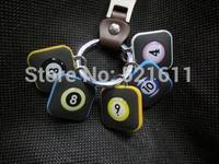 Freepost 6pcs/lot Square billiard balls keyring as billiard balls No1~No 15 keychain billiard snooker accessories