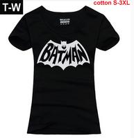 TUSDTW003 2014  new arrive fashion batman picture causal batman t shirt women, tops women ,size s to size XL free shipping