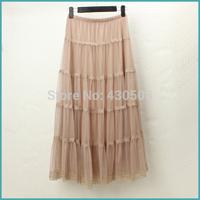 New han edition sweet sentiment lace full-skirted cake skirt Bohemian veil bust of the skirt 64