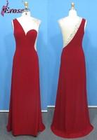ADE-176 New Arrival Dark Red Sleeveless Floor-length Satin Elegant Long Formal Evening Dress Gown 2015