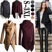 2014 Winter Coats Women Long Cashmere Overcoats Trench Desigual Down Jackets Designer Woman Wool Coats Fur Manteau Abrigos Mujer