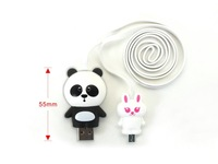 Free shipping 4pcs/lot 2014 HOT Digital Cable Line Cute Doll Micro USB Cable Animal USB Cable Data Line Phone USB Charger Cable
