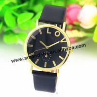 100pcs/lot 2015 Wholesale Gogoey Fashion Watch Women Rhinestone Quartz Wristwatches Leather Casual Derss Students Watches