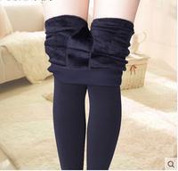 Legging 2014 plus velvet thickening thermal high waist female trousers skinny pants