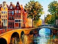 diy full rhinestones embroidery square diamond painting landscape house building bridge oil painting patterns European 30*40cm