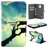 Completed Love You Wallet Flip Leather Case Cover For Samsung Galaxy Note 4 N910 N9100 N910