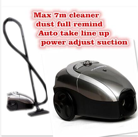 Small household cleaner mini suction machine aspirator max 7m auto take up vacuum cleaner brands(China (Mainland))