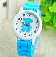 outdoor sports luxury wristwatches Ladies fashion silicone watches Set auger  design watchs