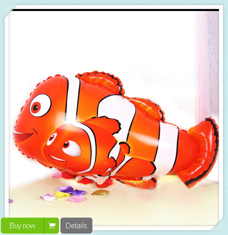 Free Shipping 18Inch Cartoon clown fish foil balloons Balloon Ball Helium Inflable Giant Latex Balloons For Christams Decoration(China (Mainland))
