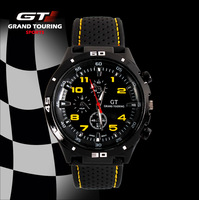 2015 Multi Color GT sports quartz wrist watches silicone band men wemen wristwatches Luxury Analog relojes watch