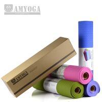 TPE Yoga mat Free of Glue Authentic Health Fitness Mat 6mmTPE  Pad No Slip Mats-carpet Gift Bag High Quality Free shipping