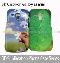 100pcs/lot 3D Blank Sublimation Phone cover case For Galaxy s3 mini Free Shipping
