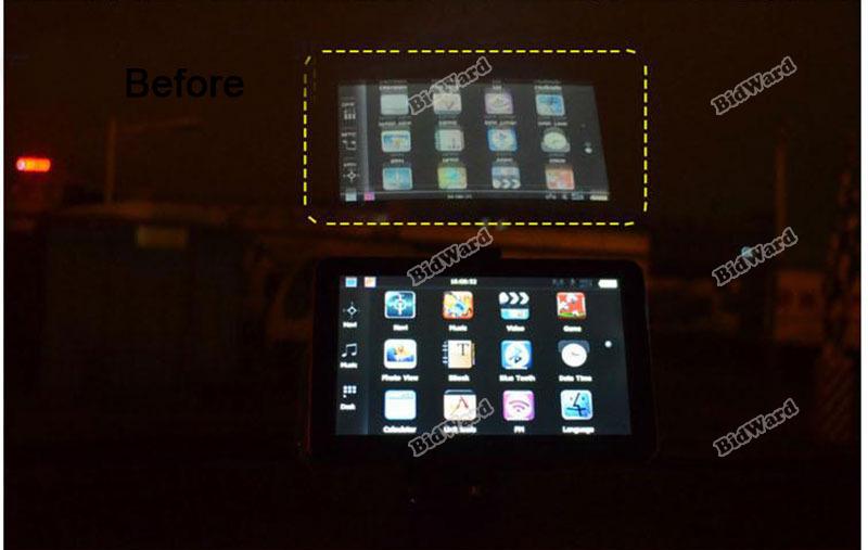miniseller Super deals Universal 7 inch Car GPS Navigation Sun Shade Screen Anti Reflective Housing Effectively!(China (Mainland))