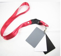 Photo Studio Accessories 3in1 3 in 1 Digital Grey Card White Black 18% Gray Color White Balance Strap