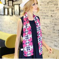 New 2014 Scarf Women Fashion Brand Designer Silk Scarf Women  Large flowers geometric print cotton scarf double silk scarves