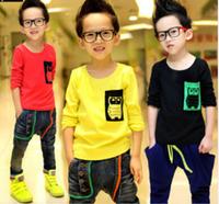 New 2014 boys clothes long-sleeve T-shirts, candy basic shirts Children's T shirts, children autumn clothes, roupas meninos