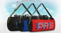 2014 Waterproof mini sports bag fashion portable small travel bag cylinder basketball bag bucket folding gym bag cheap online