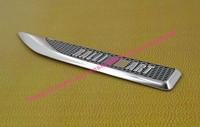 2pcs Aluminium car blade RALLIART for Lancer Evolution side wing Fender Emblem Badge Sticker