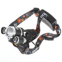 Boruit JR-3000 4000Lm 3X CREE XM-L T6 LEDs Super Bright Headlamp with 4 Modes
