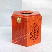 Hualishan wood carving tissue box tissue box cutout vietnam's wood daily crafts