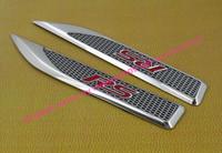 2pcs Aluminium car blade RS for Camaro side wing Fender Emblem Badge Sticker