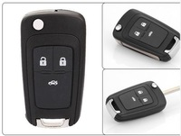 Flip Folding Key Shell for Chevrolet Cruze Remote Key Case Keyless Fob 3 Button Uncut HU100 Blade