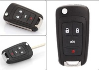 Flip Folding Key Shell for CHEVROLET Remote Key Case Fob Replacement 4 Button