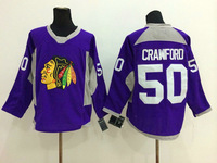 Stitched Free Shipping men's Hockey Jersey Chicago Blackhawks 50 Corey Crawford Hockey Jersey Embroidery Logos Jersey