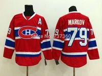 Cheap Free Shipping men's Hockey Jersey Montreal Canadiens #79 Andrei Markov Hockey Jersey Embroidery Logos Jersey