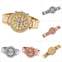 New Luxury Women's Crystal Stainless Steel Analog Quartz Wrist Watch Gift Xmas