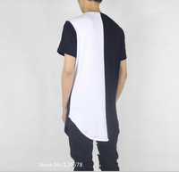 exclusive white black t shirt cool hip hop oversized streetwear urban clothing extended long slim fit skateboard swag yeezy tyga